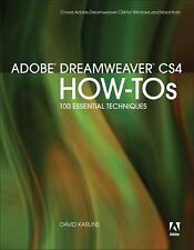 Adobe Dreamweaver CS4 How-Tos: 100 Essential Techniques Karlins, David Paperbac