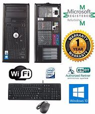 Dell OptiPlex DESKTOP COMPUTER 250GB Intel Core 2 Duo 4GB Windows 10 64 WIFI
