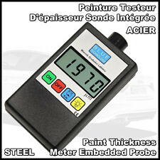 Digital Car Paint Thickness Coating Gauge Meter Tester STEEL Built probe Europe