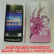 Pellicola+custodia BACK rigida CILIEGIO IN FIORE per Sony Xperia S Arc HD LT26I