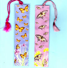 2x Handmade Bookmarks Butterfly English Garden Flower Birthday Xmas Gift Her Nan