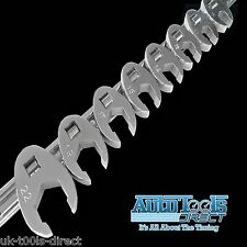 "8pc Crowsfoot Spanner Set Metric 10 - 22mm 3/8"" Drive On Rail Cr-v Steel"