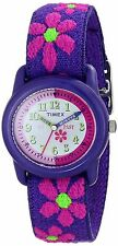 Timex T89022, Kid's Flower Printed Nylon Elastic Analog Watch, T890229J