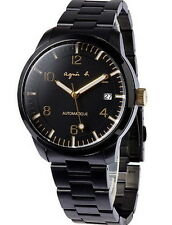 agnes b Black Gold Automatic Self Winding Men's Watch BK9010