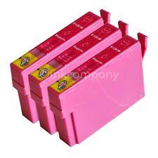 3 cartuchos de tinta compatibles magenta para la impresora Epson sx435w sx230 sx430w