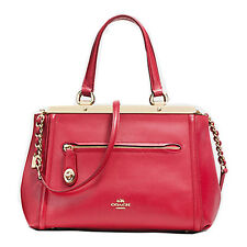 NWT COACH LEX SATCHEL/SHOULDER BAG IN SMOOTH RED LEATHER #F38260 $695