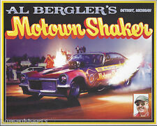 "2016 AL BERGLER'S ""MOTOWN SHAKER"" NHRA THROW BACK HANDOUT / POSTCARD"