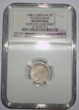Great Britain Uk Coin 3 Pence 1887 Ngc Au Details