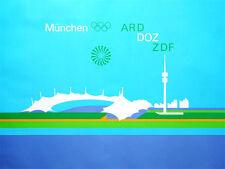 """Olympische Spiele 1972 Motiv """"Fernsehbild für ARD und ZDF"""" Otl Aicher ! LESEN !"""