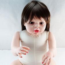 28'' Reborn Toddler Dolls Handmade Baby Lifelike Soft Vinyl Naked Girl Doll Gift