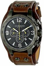 Akribos XXIV Men's Conqueror Quart Watch with Black Dial Analogue Display and...