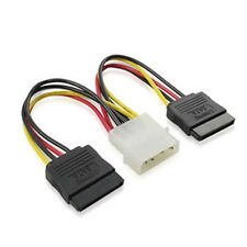 17CM 4 Pin IDE Male Molex to Dual SATA Y Splitter Female HDD Power Adapter Cable