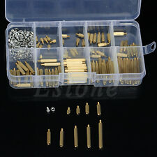 Hot 270Pcs M2 3-25mm Male to Female Brass PCB Standoff Screw Nut Assortment Set