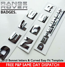 Land Rover DEFENDER FRONT & REAR CHROME 3D Lettering Badge Emblem Sticker 90 110