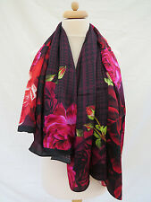 NEW!!!100% Silk Ted Baker Juxtapose ROSE  SQUARE Silk Scarf - VERY PRETTY!