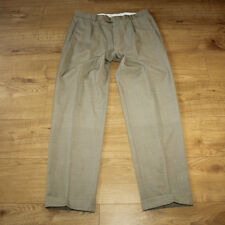 Grey Wool HUGO BOSS Summer Casual Party Straight Leg Classic Trousers W 35 L 32