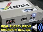Amiga USB Floppy Disk Drive SOUND & BLUE LED A500/600/1200/2000/3000/4000 Gotek