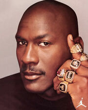 Michael Jordan Basketball Superstar Rings 10x8 Photo