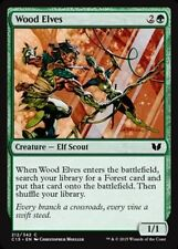 Wood Elves X4 NM Commander 2015 MTG  Magic Cards Green Common