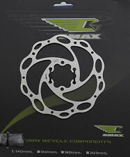 Stainless Steel Bike Disc Brake Rotor 140mm or 160mm Incl Mounting Bolts