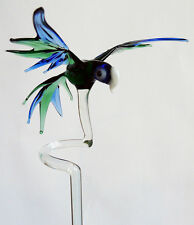 Baguette Pour Orchidée avec Perroquet Vert Bleu Support pour orchidées