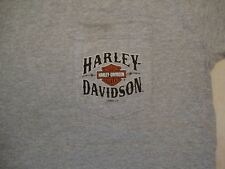 Harley-Davidson Motorcycles Chambersburg PA pocket light gray T Shirt M
