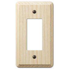 SINGLE GFI ROCKER UNFINISHED ASH WOOD SWITCHPLATE-STAIN OR PAINT FAVORITE COLOR
