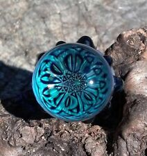 Blue Dichroic Star Art Glass Wine Bottle Stopper Psychedelic Sacred Geometry USA
