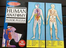 MELISSA & DOUG HUMAN ANATOMY FLOOR PUZZLE 100 PC EASY-CLEAN DOUBLE-SIDED 4 FT