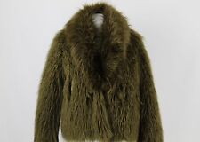 H&M Studio Green Faux Fur Jacket Size XS