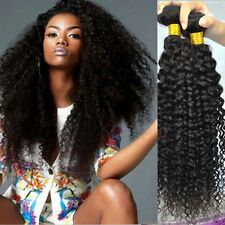 3 bundles 150g 18inch Unprocessed 50g/1bundle Kinky Curly Human Hair Extensions