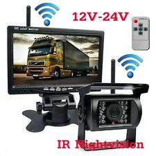 """FOR TRUCK RV VAN DUAL WIRELESS 7"""" LCD AUTO REARVIEW MONITOR BACKUP CCD CAMERA"""