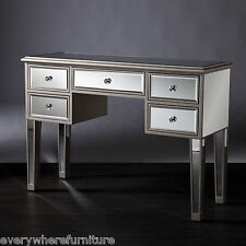 Modern Contemporary Bathroom Vanity Desk Mirrored Furniture Table Glam Cabinet