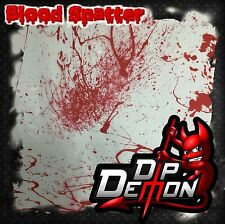 BLOOD SPATTER HOMICIDE DROPS HYDROGRAPHIC WATER TRANSFER FILM HYDRO DIP DIPPING