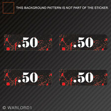 .50 Ammo Can Sticker Set Zombie Edition Die Cut Decal