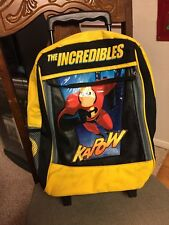 "Disney/Pixar's The Incredibles, Rolling Backpack Suitcase(11""x15""x5""), Used"