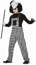 Harlequin Clown Overalls Black White Adult Mens Costume Standard Size NEW