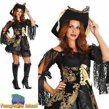 BUCCANEER SEXY GLAMOUR PIRATE LADY - UK 10-14  womens ladies fancy dress costume