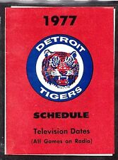 1977 DETROIT TIGERS BASEBALL POCKET SCHEDULE