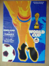 1985 World Cup Qualifying Tournament Group 3 England v Turkey