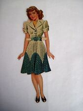 "Beautiful ""Bette Davis"" Vintage Paper Doll w/ Wardrobe of Pretty Clothes *"