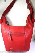Vintage See by CHLOE Lipstick Red Leather Large Hobo Shoulder Bag