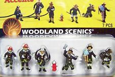 HO scale RESCUE FIREFIGHTER / FIREMEN Figures # 1961