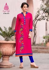 Beautiful Designer Pure Rayon Cotton Embroidred Long L size Kurta/Kurti/Tunic