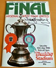 TREVOR BROOKING SIGNED Autograph West Ham United FA Cup Final 1980 Programme COA