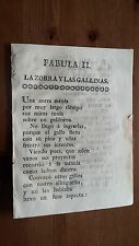1808 Fray Ramón Valvidares y Longo La Zorra y Las Gallinas, Guerra Independencia