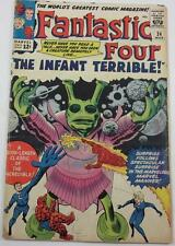 FANTASTIC FOUR COMIC #24 MARCH 1964 INFANT TERRIBLE VG- 3.5