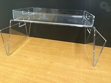 Multipurpose Acrylic Serving Tray SET Breakfast Bed Laptop Stand Display Handles