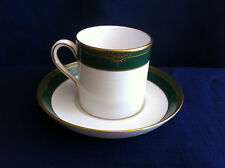 Spode Chardonnay large coffee can & saucer (minor rim gilt wear)