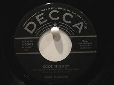 Eddie Fontaine  Decca 30042  Cool It Baby b/w Into Each Life  Teenage Rebel